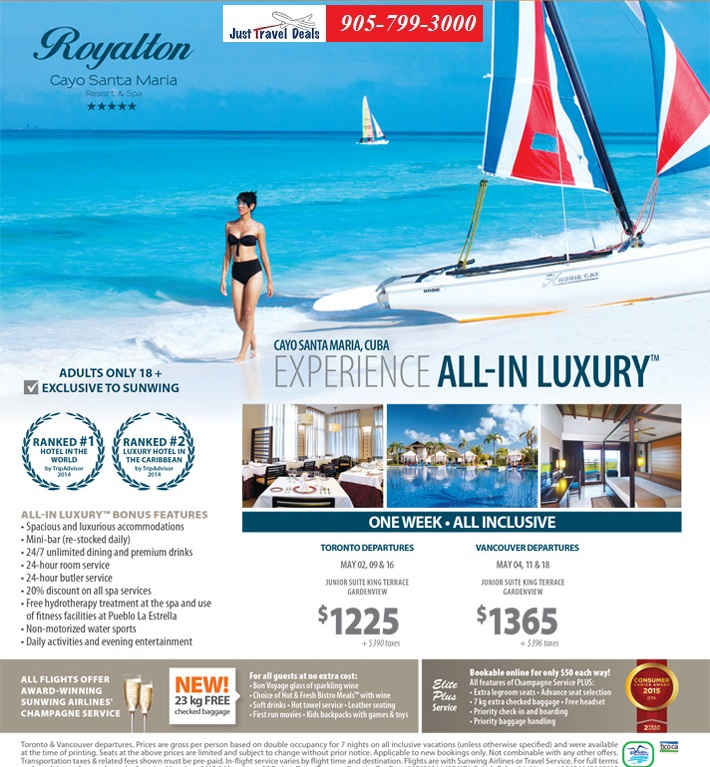 Vancouver Vacations Packages: Experience All-In Luxury At Royalton Cayo Santa Maria