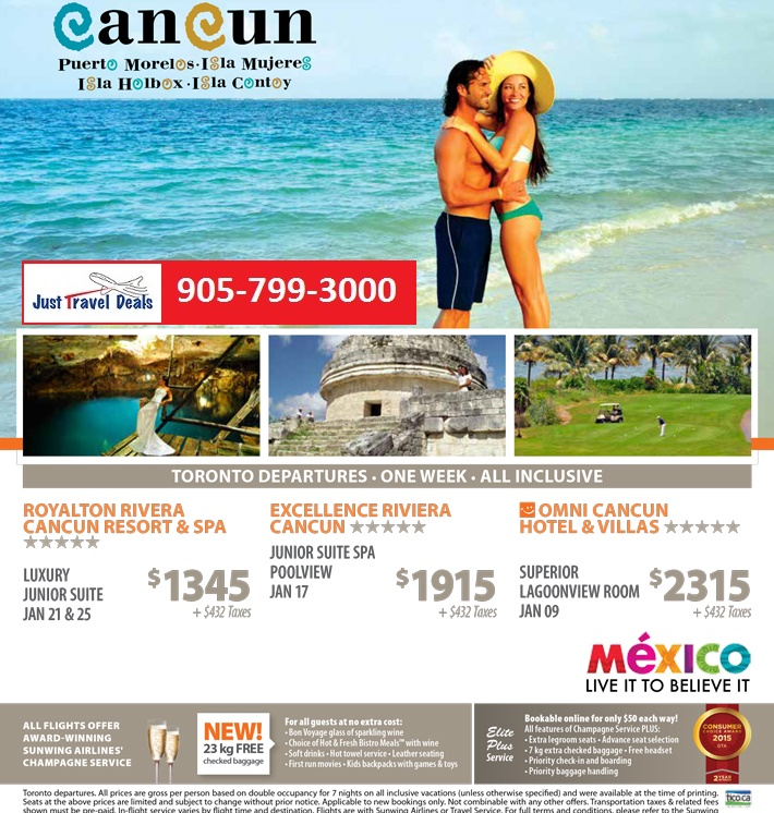 Experience Cancun Five Star Vacations From 1345
