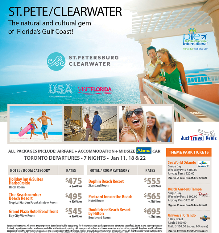 St Pete Clearwater Florida Vacations From 475 Toronto Departures