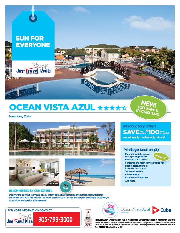 New Amp Exclusive Ocean Vista Azul In Varadero