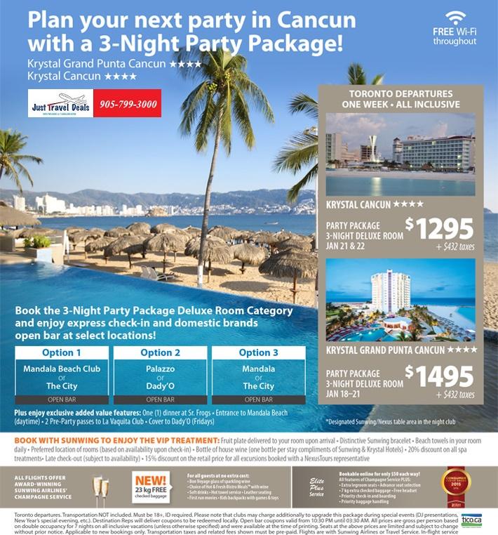 Cancun deals from toronto