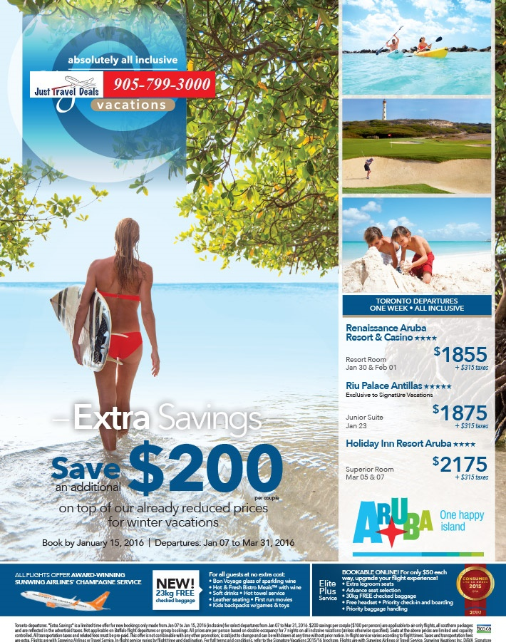 Aruba One Week All Inclusive Vacations