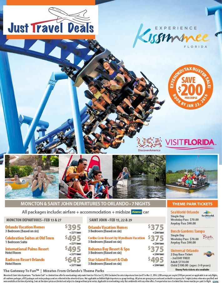 Experience Kissimmee Amp Save 200 Per Couple Moncton