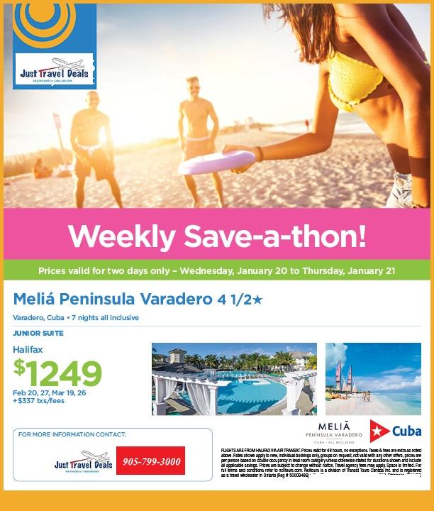 Discount Cruises For Veterans: Melia Peninsula Varadero Cuba Sale Departure From Halifax