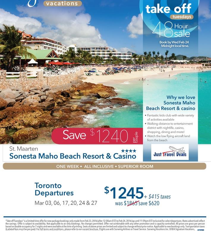 48 Hours StMaarten Sonesta Maho Beach Vacation Sale