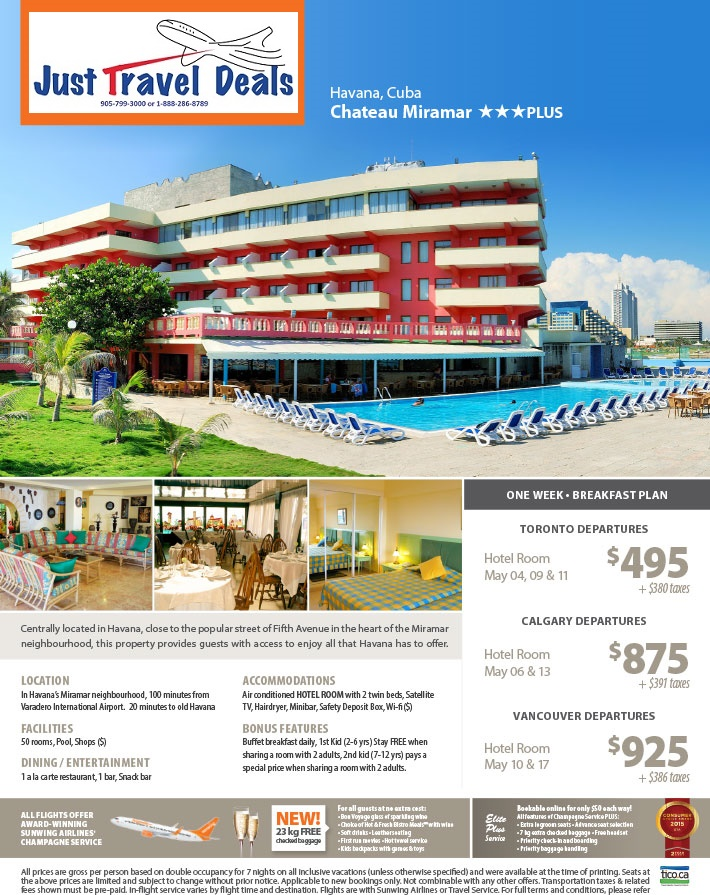 Experience Havana At The Chateau Miramar Vacations From 495