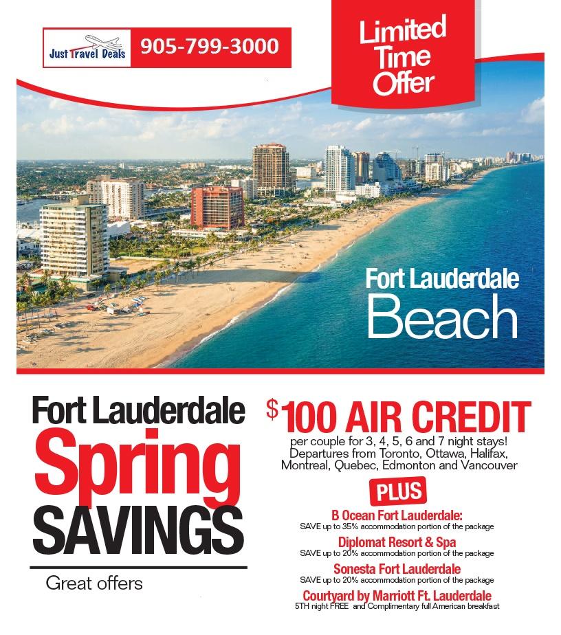 Fort Lauderdale Florida Spring Savings