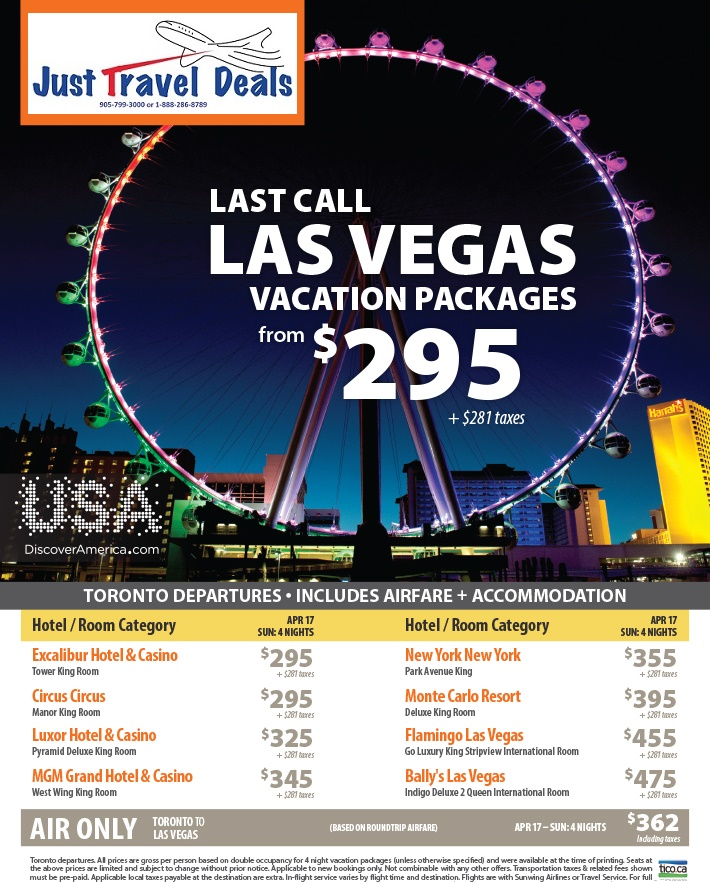 Last Call Las Vegas Vacation Packages From 295