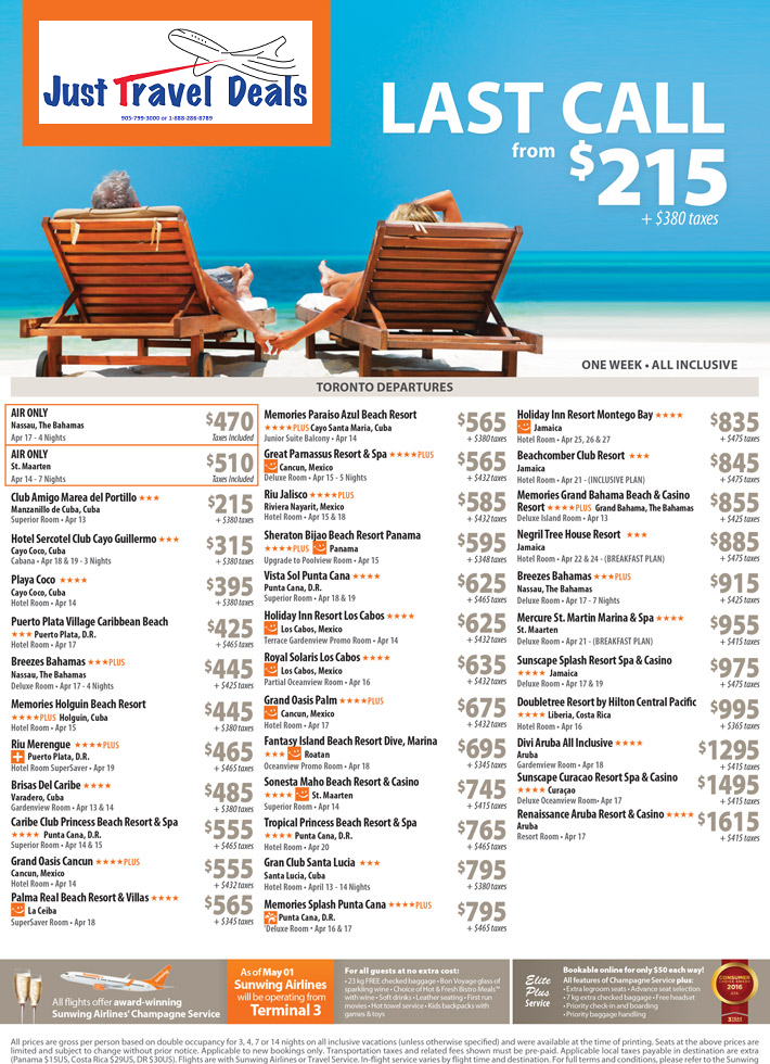 Toronto travel deals all inclusive