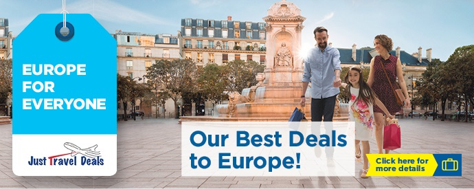 Our best deals to europe from 1169 free room upgrade at for Best europe travel deals