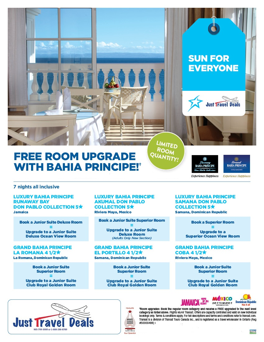 Free Room Upgrade With Bahia Principe