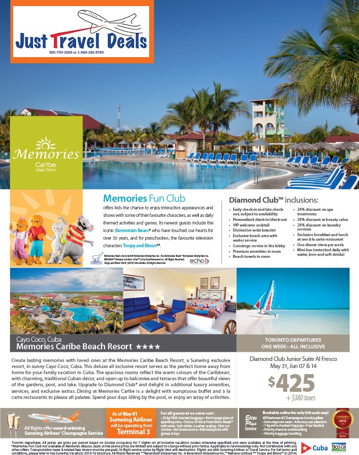 Experience Memories Caribe Beach Resort Vacations From
