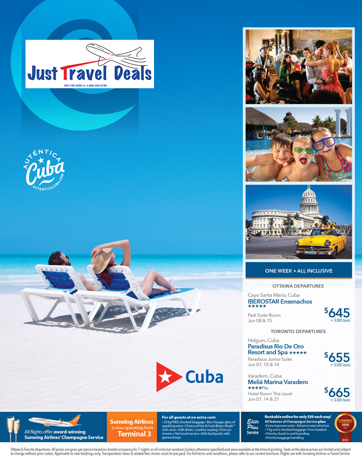 cuba vacations from 645 ottawa toronto departures. Black Bedroom Furniture Sets. Home Design Ideas