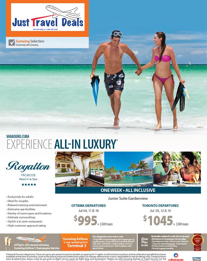 Royalton Hicacos Resort Amp Spa Vacations From 995 Ottawa