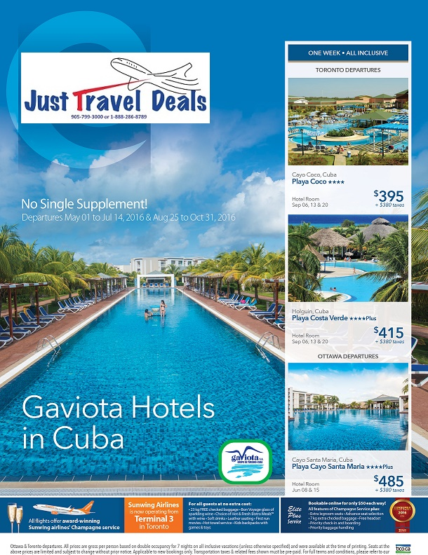 Gaviota Hotels In Cuba Sell Off Vacations From 395