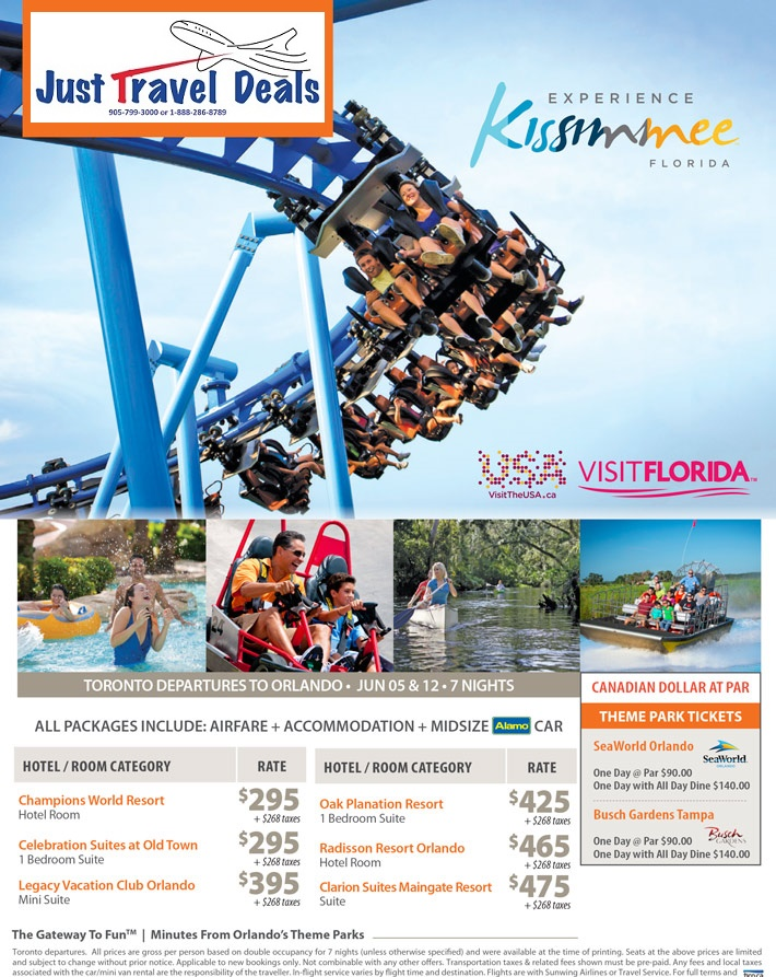 Experience Kissimmee Florida Vacations From 295