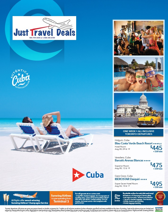 Cuba All Inclusive Vacations From 445 Toronto Departures