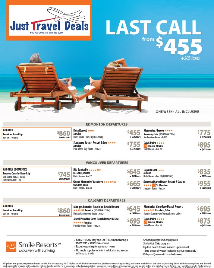 Last minute deals to las vegas from edmonton