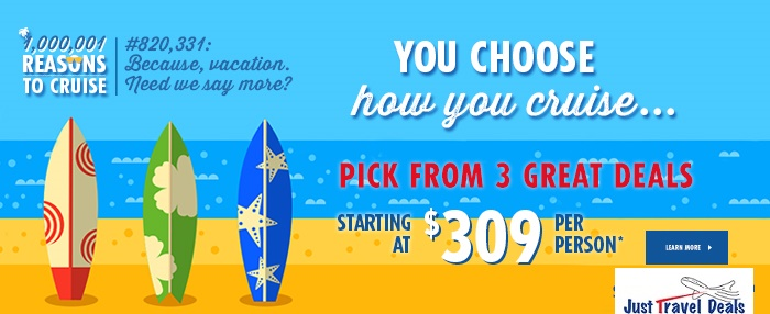 Choose N Cruise Pick From 3 Deals Starting At 309