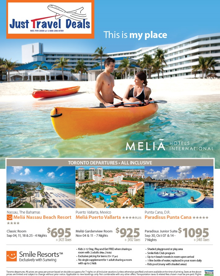experience melia hotels international cheap vacations. Black Bedroom Furniture Sets. Home Design Ideas