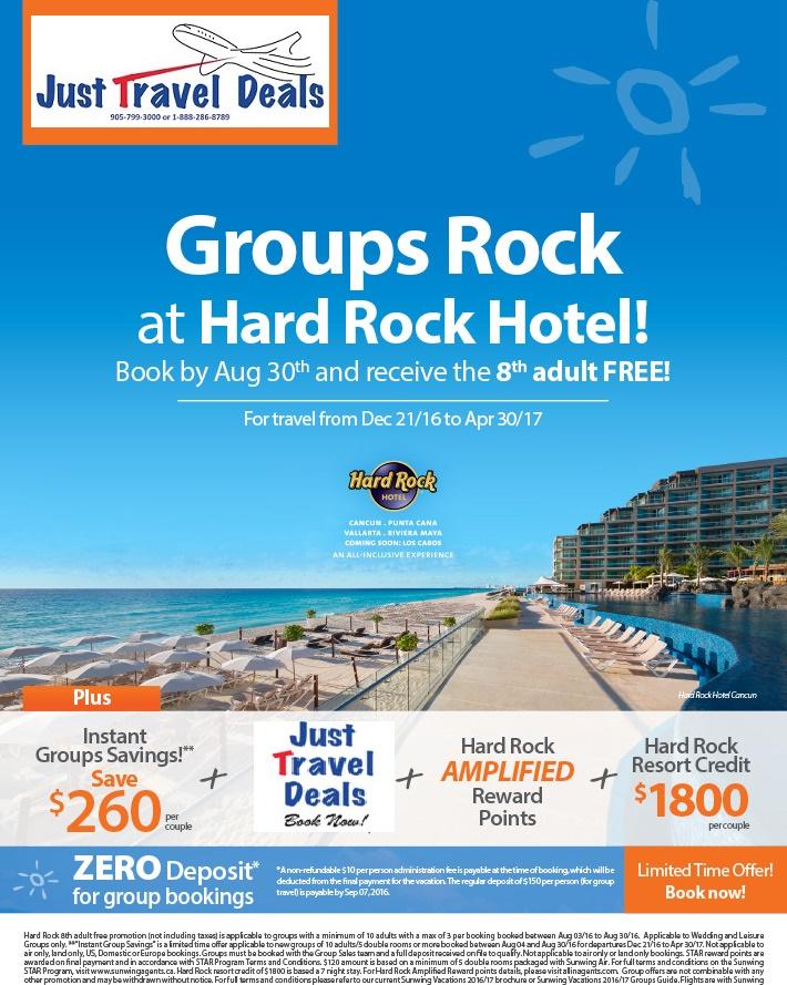 Groups Rock At Hard Rock Hotel Save 260 Per Couple