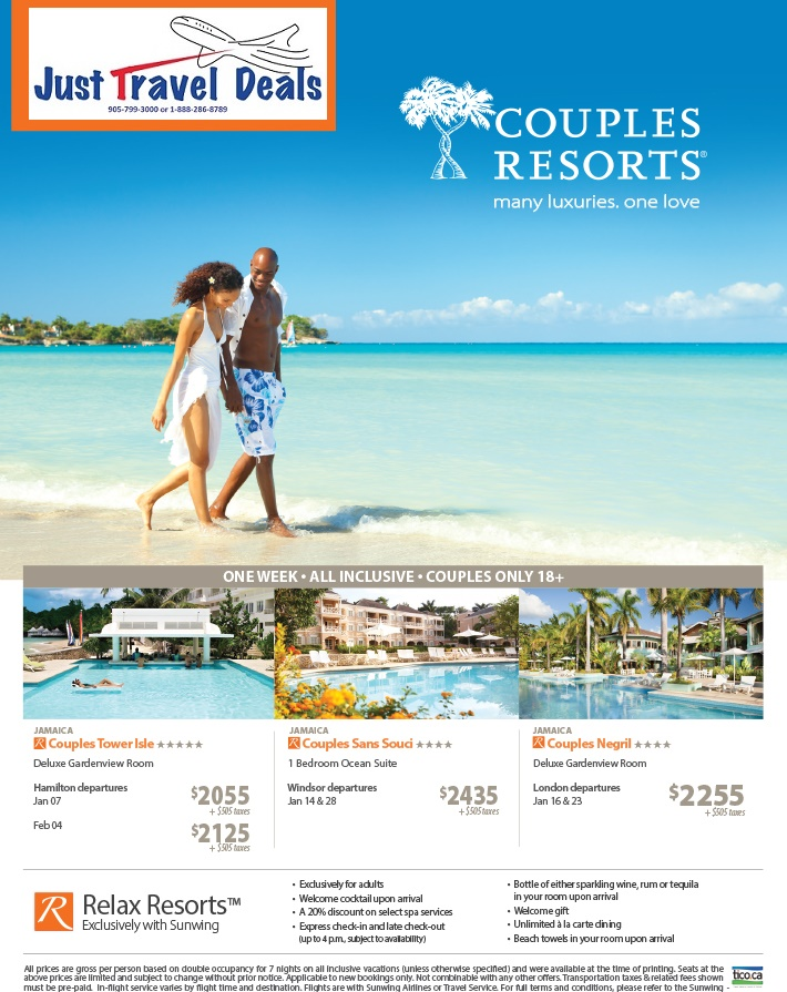 Experience couples resorts in jamaica luxury vacations for Couples vacations in usa