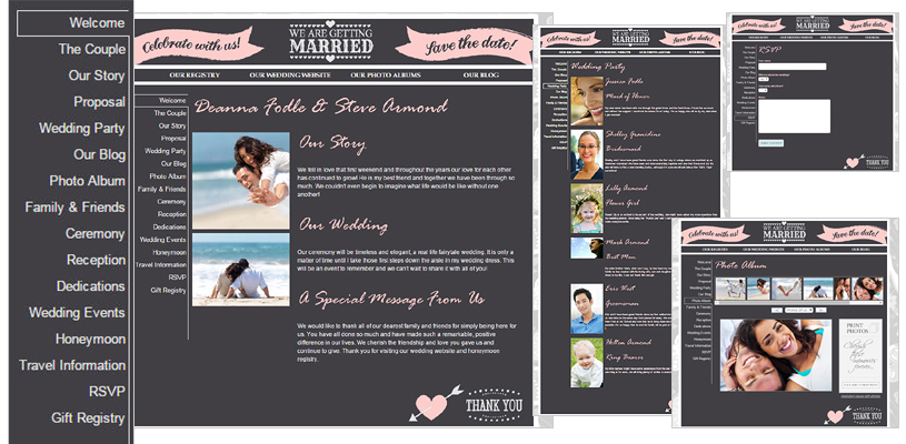 Canadian Personalized Wedding Website