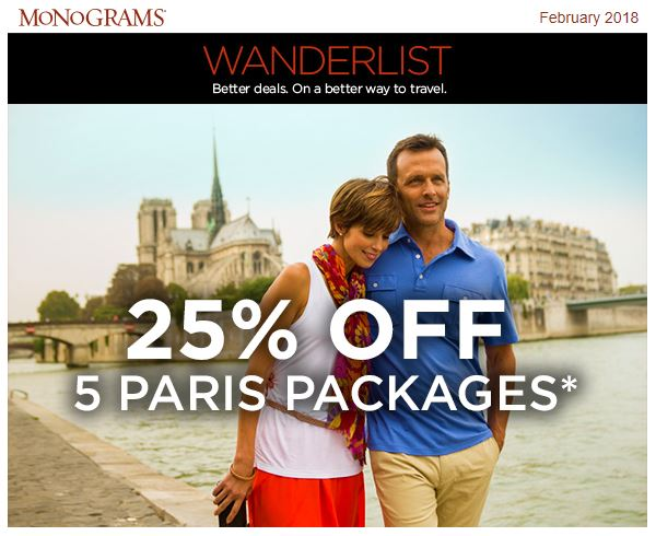 25% Off Paris Vacation Packages