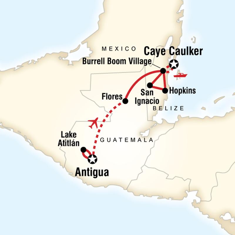 guatemala adventure map
