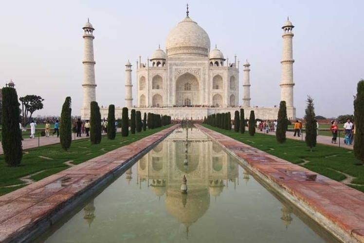 Visit the incredible Taj Mahal in India