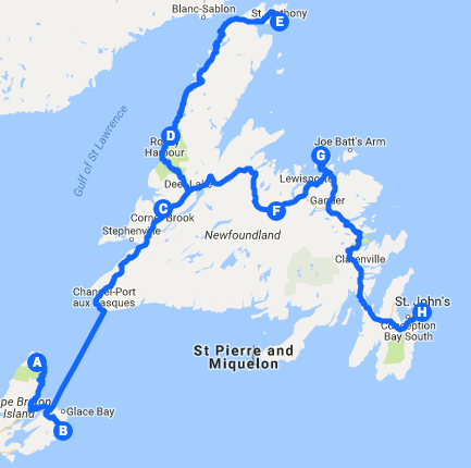 Part 2 of our Maritime tour itinerary