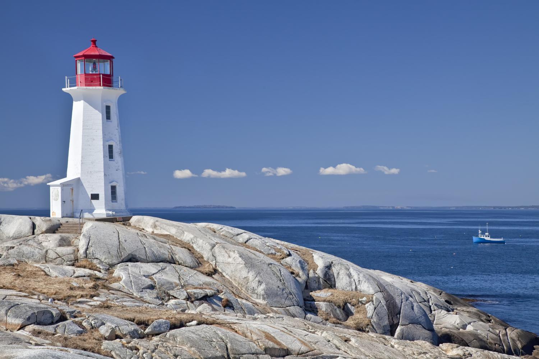 The gorgeous coastline off of Nova Scotia.