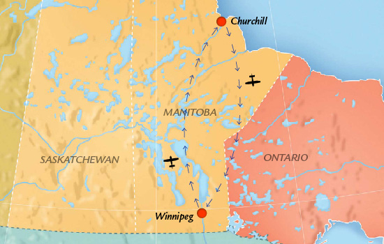 Travel from Winnipeg to Churchill and back again, on this incredible journey.
