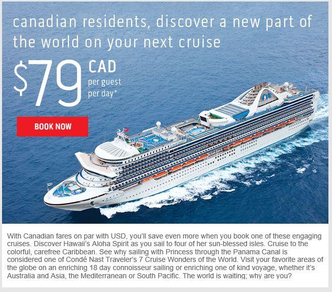 Princess Cruises Canadian At Par - Canadian cruise