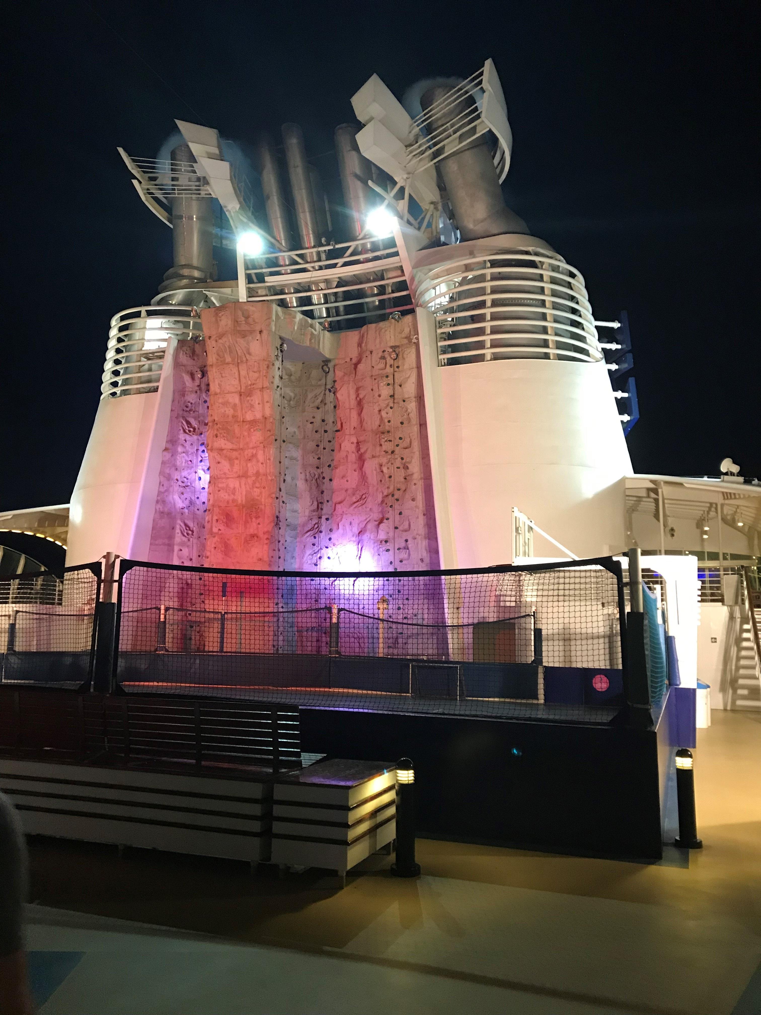 Freedom of the Seas - Rock Climbing Wall