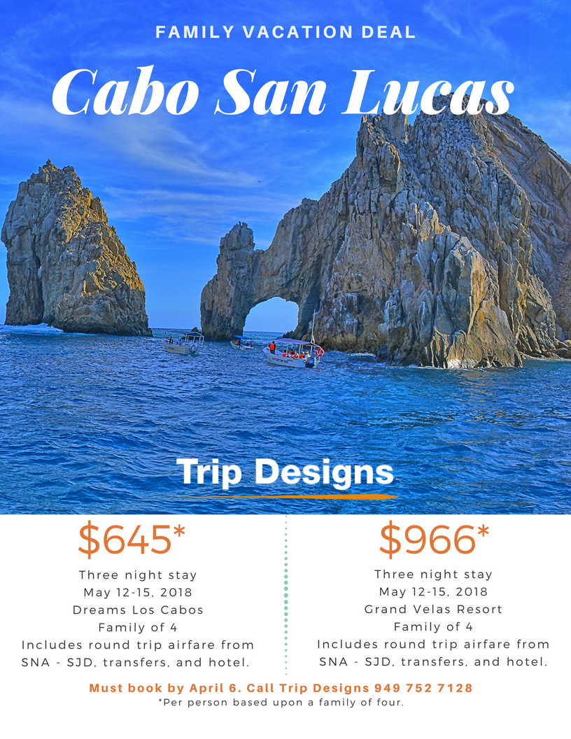 How About A Quick Trip To Cabo Fly From John Wayne May 12 15