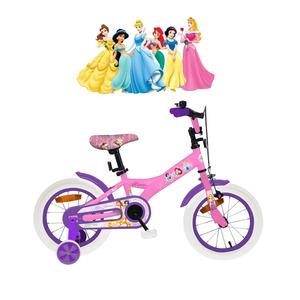 Bicicleta Princesas Licencia Original Rodado 16 Acero con Rayos