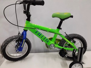 Bicicleta Rodado 12 Kawasaki Con Rueditas Cuadro Reforzado