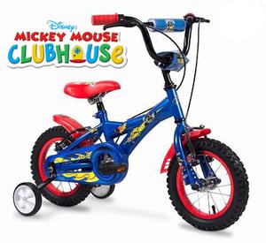 Bicicleta Rodado 12 de 2 a 4 Años Mickey 100% Original Rayos