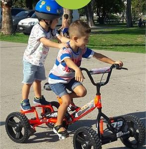 Cuatriciclo A Pedal Extreme Super Grande 4 A 9 Años Regulable!