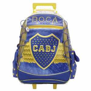 """Mochila Con Carrito Boca Juniors 18"""""""