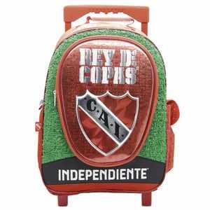 "Mochila Con Carrito Independiente Pasto Sintético 18"""