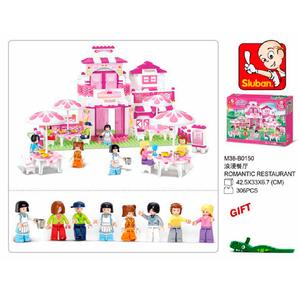 Sluban Restaurant Romántico Al Aire Libre 100% Compatible Con Lego