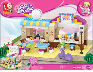 Sluban Girl Posada Al Aire Libre+ Personajes 100% Compatibles Con Lego