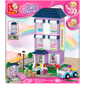 Sluban Girl Hotel Rascacielos + Personajes 100% Compatibles con Lego