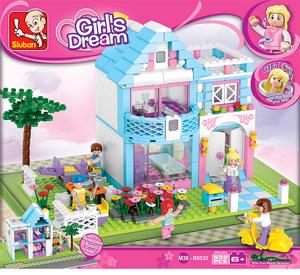 Sluban Girls Jardin De Villa+ Personajes 100% Compatibles Con Lego