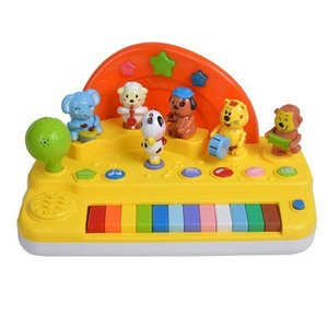 Piano Didactico Musical Animales+ Luces+ Microfono