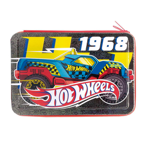 Cartuchera Hot Wheels 2 Pisos Metalica Licencia Original