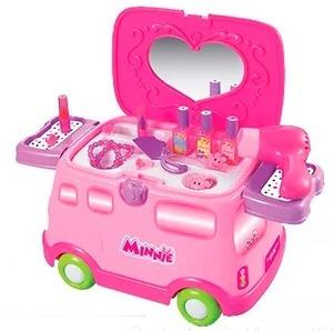 Autito De Disney Minnie Set De Belleza+ Secador