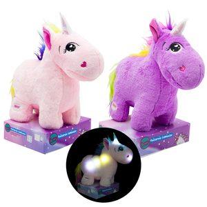 Peluche Unicornio Con Luces 28cm